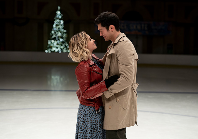 Kate und Tom auf dem Eis